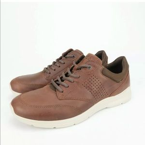 ECCO Men's Irving Mink Color Leather Casual Shoes